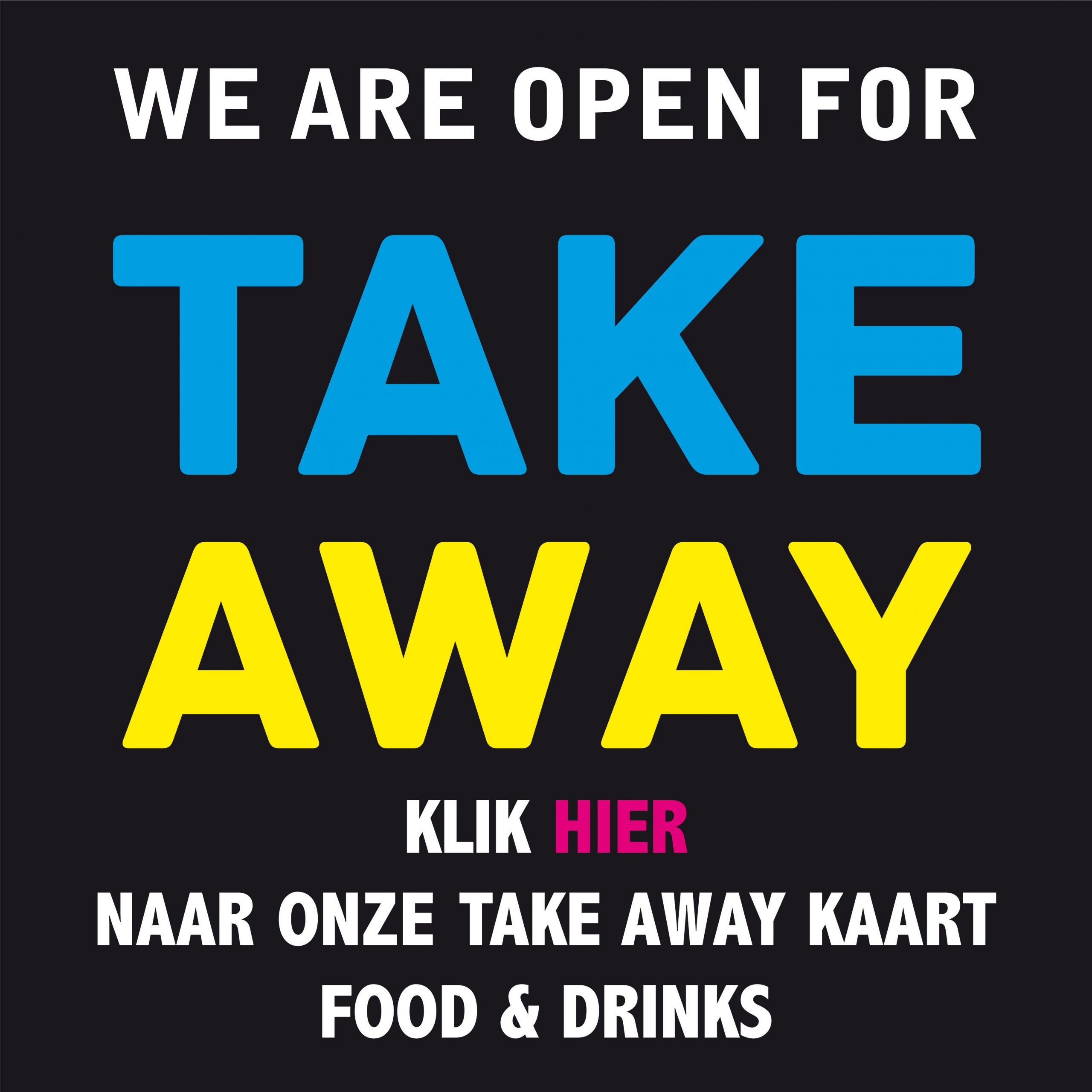 Open for takeaway